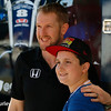 March 10-12:  Charlie Kimball poses with a fan at the Firestone Grand Prix of St. Petersburg.