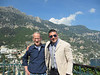 Neal with Christian who drove us from the Naples airport to Positano.  Positano is in the background.