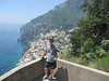 Neal on the hike back down to Positano from Montepertuso