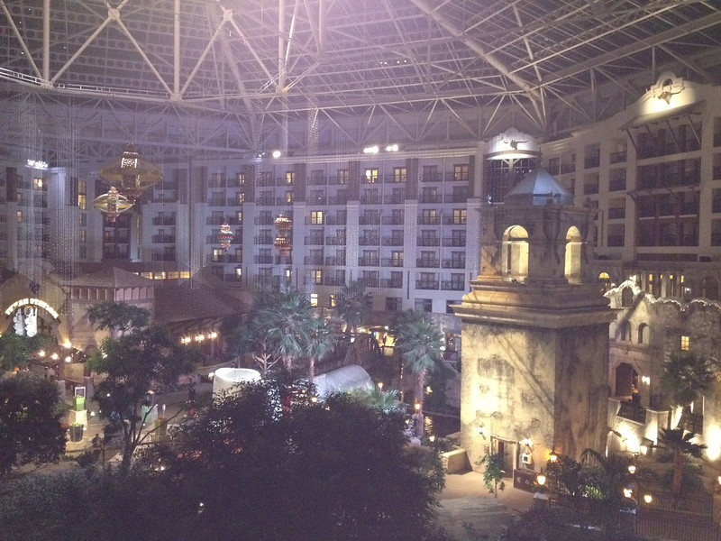 Inside the Gaylord Texan Hotel in Dallas for the GFR User Conference.