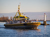 "Pilot boat ""Pacific Navigstor"" on the Fraser River - as shot from Garry Point Park."