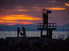 Sunset at Garry Point Park.