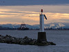 Light Beacon at sunrise as taken from Garry Point Park.