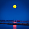 Super moon over the Fraser River at Steveston.