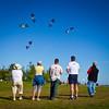 Kites at Garry Point Park.
