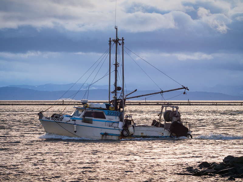"Fishing boat ""The Rookie"" returns to Steveston Harbour."