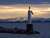 Light Beacon at sunrise as taken from Garry Point Park.