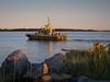 "Pilot boat ""Pacific Navigator"" returns to Steveston Harbour."