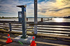 Parking meter on the pier at Imperial Landing.