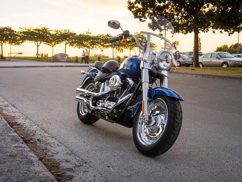 Harley Davidson Fat Boy at Garry Point Park.