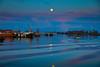 Moon over Steveston Harbour.