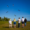Kites at Garry Point Park.