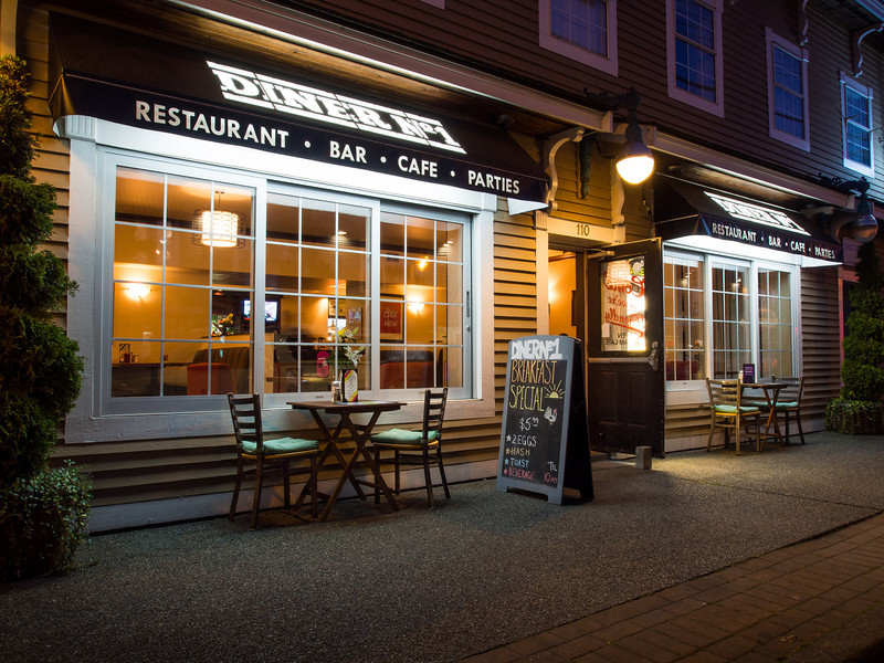Quiet night at Diner No1 in Steveston.