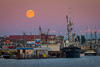 Moonrise over Steveston Village.