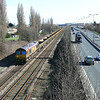 66106 brings up the rear of 6T54 at Hessle it looks like this train will be split when on the worksite.