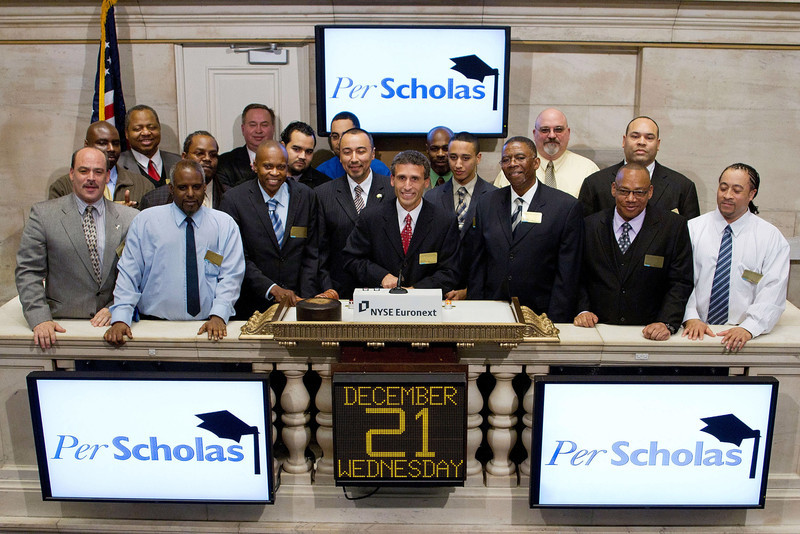 NEW YORK, NY - DECEMBER 21:  Plinio Ayala, President and CEO of Per Scholas rings the Closing Bell at the New York Stock Exchange on December 21, 2011 in New York City. (Photo by Ben Hider/NYSE Euronext).