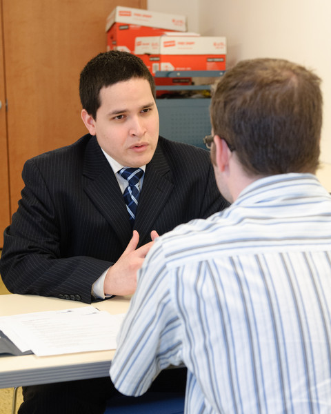 Mock interview with corporate (Goldman Sachs) volunteer.