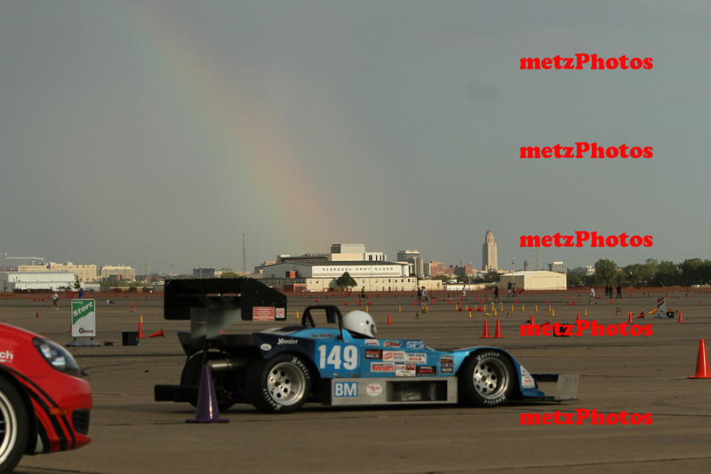 How about that rainbow!  Clemens Burger starting his run......he won B modified.