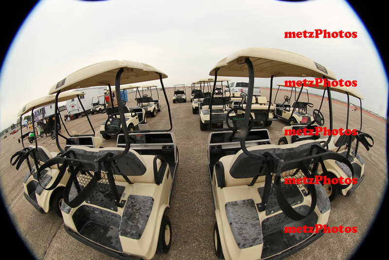 Lots of rented golf carts!