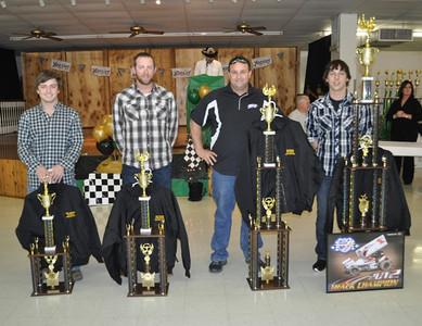 Sprint Track Champion #1g Cody Gardner, 2nd Plc - #3 AG Rains, 3rd Plc - #26 Marshall Skinner (not present), 4th Plc - #12t Joe Young, 5th Plc - #1 Nic Jenkins