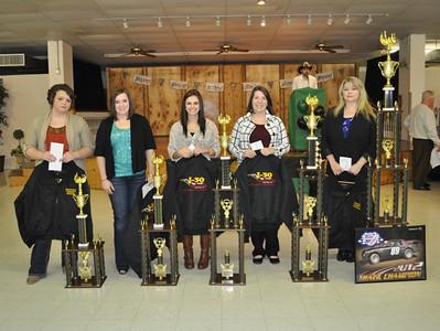 Powder Puff Track Champion-#89 Tonia Martin, 2nd Plc-#14g Shelby Marshall, 3rd Plc-#10 Kaci Weaver, 4th Plc-#43 Haley Dawson, 5th Plc - #37 Rebekah Harris