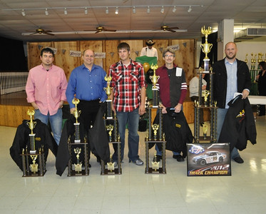 Super Stock Track Champion #x99 David Ratliff, 2nd Plc - #67 Dale Fishburn, 3rd Plc - #91k Kameron Eddy, 4th Plc - #13 Darin Long, 5th Plc - #TEN Jason Eddy