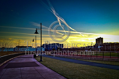 Weehawken Waterfront Park at sunset
