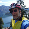 biking above Lake Pend Oreille