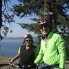 the Couer d' Fondo bike ride along lake Couer d'alene