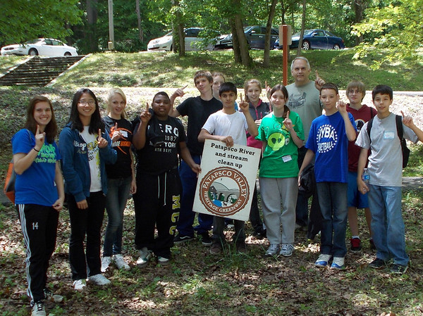 "This photo is Mr. Graf's group - the first place team who won ""Most pounds of Trash Collected "" - an amazing 296 pounds of trash!"