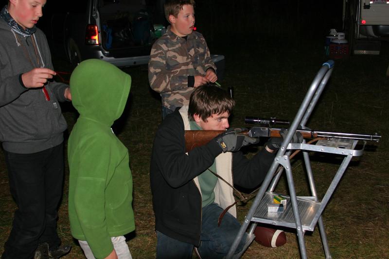 Target-shooting by flashlight?