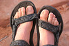 Sand in sandals...chafes after a while