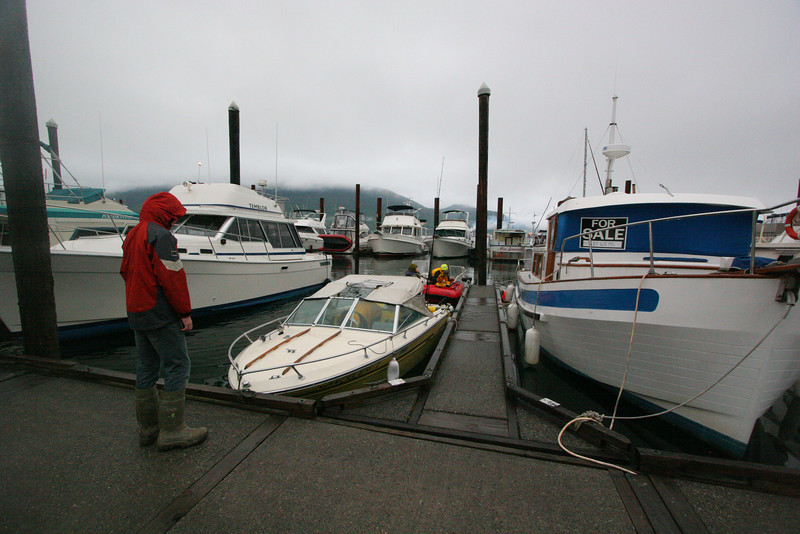 Our boats are a little on the small side in this marina