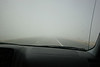 Driving over the Great Salk Lake Desert - this is a salt storm.