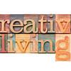 creative living in letterpress type