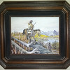John Howland painting of a native american on horseback. Found on a wall in the Tosh house.