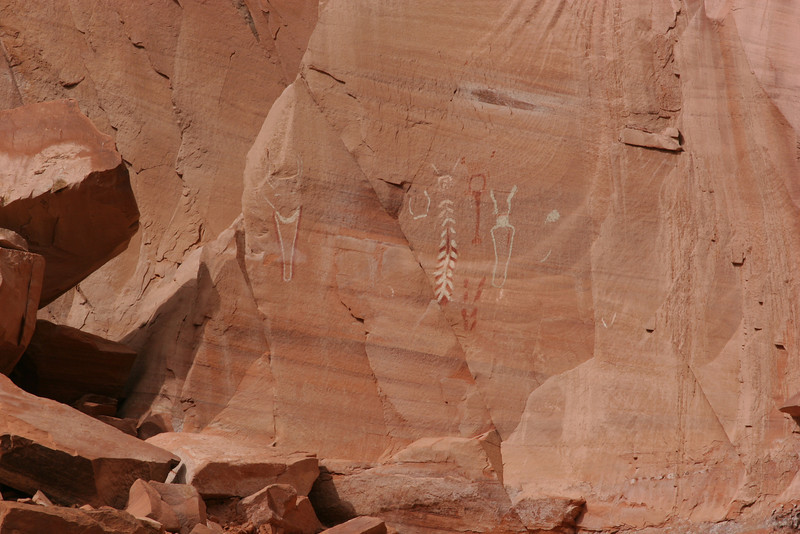 Petroglyphs on a cliff waaay up.  Authentic?  Who knows!
