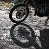 KLR tire shadow
