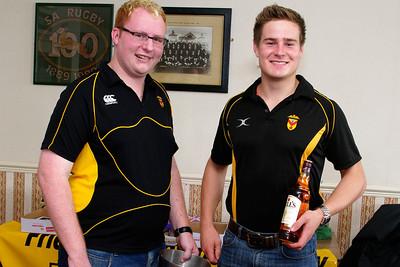 Will Hodnett won the whisky raffle prize.