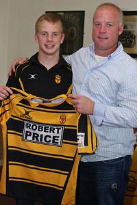 Jon Bryant with Owen Broad