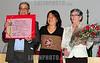 BRASIL 2012-04-21 O REVOLUCIONARIO PEDRO LOBO DE OLIVEIRA MILITANTE DA VPR VANGUARDA POPULAR REVOLUCIONARIA FOI HOMENAGEADO ONTEM A NOITE COM O TITULO DE CIDADAO JOSEENSE NA CAMARA MUNICIPAL A PEDIDO DA VEREADORA AMELIA NAOMI - PT. PEDRO LOBO FOI EXILADO PARA DIVERSOS PAISES COMO ARGELIA, CUBA, CHILE, ARGENTINA E ALEMANHA ORIENTAL ATE RETORNAR AO BRASIL NA ANISTIA. NA FOTO PEDRO LOBO, A VEREADORA AMELIA NAOMI E SUA ESPOSA. / Brasilien: Pedro Lobo. © Lucas Lacaz Ruiz/LATINPHOTO.org