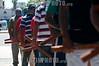 Argentina - Buenos Aires: February 2012. En ocasion de la presencia del Principe Guillermo en las Islas Malvinas, la agrupacion Quebracho se manifesto contra la presencia britanica en las Islas y a favor de la soberania argentina sobre ellas. Sobre el final de la protesta, arrojaron bombas de pintura en la sede del banco HSBC. / Members of Quebracho protested the presence of Prince William and the british troops in the Malvinas (Falklands) Islands: The demonstration ended at the Central HSBC Bank's office where paint bombs were thrown against the building. / Argentinien: Mitglieder der Quebrachos während einer Demonstration in Buenos Aires. © Patricio Murphy/LATINPHOTO.org