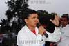 BRASIL 2012-04-25 TRABALHADORES DA GM PRIMEIRO TURNO FIZERAM DUAS VOTACOES NA MANHA DE HOJE ONDE APROVARAM A CRIACAO DO TERCEIRO TURNO NA MONTAGEM DA NOVA S-10. / TRIAL BLAZER E O PAGAMENTO DA PLR EM MAIO. SAO JOSE DOS CAMPOS - SP BRASIL. NA FOTO MACAPA O NOVO PRESIDENTE DO SINDICATO DOS METALURGICOS QUE VAI TOMAR POSSE NO PROXIMO DIA 26. / Strike action. / Brasilien: Streik bei GM. © Lucas Lacaz Ruiz/LATINPHOTO.org