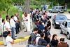 2012-04-17 SINDICALISTAS LIGADO AO SINDICATO DOS QUIMICOS DE SAO JOSE DOS CAMPOS - SP FAZEM MANIFESTACAO EM FRENTE A MONSANTO EM COMEMORACAO DO ABRIL VERMELHO  . PHOTOS LUCAS LACAZ RUIZ / A13 .