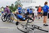 BRASIL 2012-04-22 PRIMEIRA ETAPA DE CORRIDA DE RUA SUPERACAO EM SAO JOSE DOS CAMPOS - SP BRASIL. / Wheelchair athlete. Carrera a pie. Correr. / People running at the CORRIDA DE RUA SUPERACAO. / Brasilien: Laufsport.  Rollstuhlfahrer. Rennrollstuhlfahrer. © Lucas Lacaz Ruiz/LATINPHOTO.org