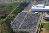 BRASIL 2012-04-01 VISTA AEREA DA FABRICA DA VW EM TAUBATE - SP ONDE O SINDICATO DOS METALURGICOS ANUNCIOU INVESTIMENTOS DA ORDEM DE R$ 8,7 BILHOES E MAIS 8 MIL VAGAS DE EMPREGOS. NA FABRICA SAO PRODUZIDOS O GOL E O VOYAGE. NA FOTO PARTE NOVA DA FABRICA. Fabricantes de automoveis do mundo. / Fabricante de automoviles. vista aerea. / Brasilien: Flugaufname neues Werkgebäude Volkswagen do Brasil in Taubate. © Lucas Lacaz Ruiz/LATINPHOTO.org