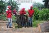 BRASIL 2012-04-05 CASO PINHEIRINHO - SAO JOSE DOS CAMPOS - SP BRASIL . Uma equipe com diversos trabalhadores uniformizados de vermelho, separam e recolhem os entulhos no terreno da Ocupacao Acampamento Pinheirinho - MUST , apoioado pelo Sindicato dos Metalurgicos de SJCampos e Regiao presidido pelo PSTU CSP Conlutas , em Sao José dos Campos - SP Brasil. / Brasilien: Aufräumungsarbeit bei der zerstörten Siedlung PINHEIRINHO. © Lucas Lacaz Ruiz/LATINPHOTO.org