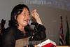 BRASIL 2012-04-21 O REVOLUCIONARIO PEDRO LOBO DE OLIVEIRA MILITANTE DA VPR VANGUARDA POPULAR REVOLUCIONARIA FOI HOMENAGEADO ONTEM A NOITE COM O TITULO DE CIDADAO JOSEENSE NA CAMARA MUNICIPAL A PEDIDO DA VEREADORA AMELIA NAOMI - PT. PEDRO LOBO FOI EXILADO PARA DIVERSOS PAISES COMO ARGELIA, CUBA, CHILE, ARGENTINA E ALEMANHA ORIENTAL ATE RETORNAR AO BRASIL NA ANISTIA. NA FOTO PEDRO LOBO E A VEREADORA AMELIA NAOMI. NA FOTO VEREADORA AMELIA PROPOSITORA DO PROJETO DE HOMENAGEM. / Brasilien: Pedro Lobo. © Lucas Lacaz Ruiz/LATINPHOTO.org