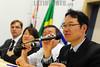 """BRASIL 2012-04-03 PALESTRA """"ENTENDA O ACORDO DE PREVIDENCIA BRASIL - JAPAO"""" PROMOVIDO PELA VEREADORA AMELIA NAOMI E PELO DEP FEDERAL CARLINHOS DE ALMEIDA - PT NA CAMARA MUNICIPAL DE SAO JOSE DOS CAMPOS QUE CONTOU COM A PRESENCA DE TSUBOI TOSHINOBU, (NA FOTO ) CONSUL DO CONSULADO GERAL DO JAPAO EM SAO PAULO E TEVE PALESTRA DE MARIA DA CONCEICAO COELHO ALEIXO, COORDENADORA DE ACORDOS INTERNACIONAIS - INSS BRASILIA. NA FOTO CONSUL POSA COM MEMBROS DA COMUNIDADE. / Brazilian Japanese friendship. / Brasilien: Brasilianische japanische Freundschaft. Konsul TSUBOI TOSHINOBU. © Lucas Lacaz Ruiz/LATINPHOTO.org"""