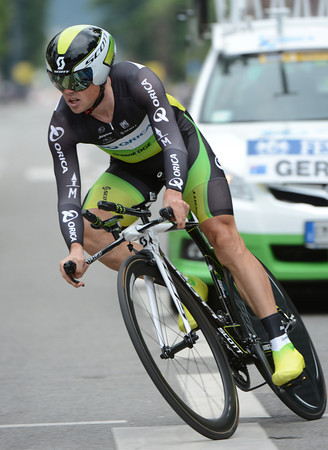 Simon Gerrans put in a good time trial to take 6th, just five-seconds down...